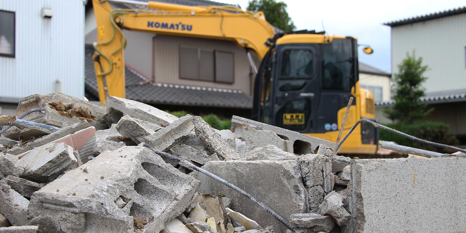 廃棄・解体作業は実績の大谷運輸